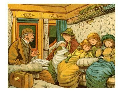 train travel in 1880s from paris to calais by night giclee