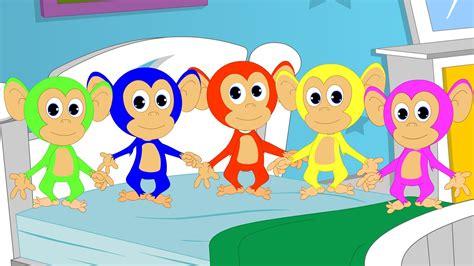 5 little monkeys jumping on the bed song five little monkey nursery rhyme kids songs rhyme youtube