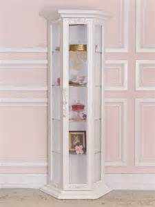 Curio Cabinets In White 8404 Lovely Shabby White Curio Cabinet From The