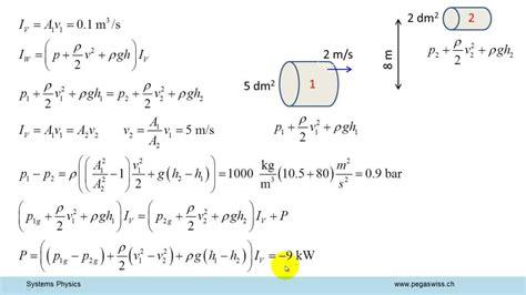 Bernoulli Scformula bernoulli wasserleitung