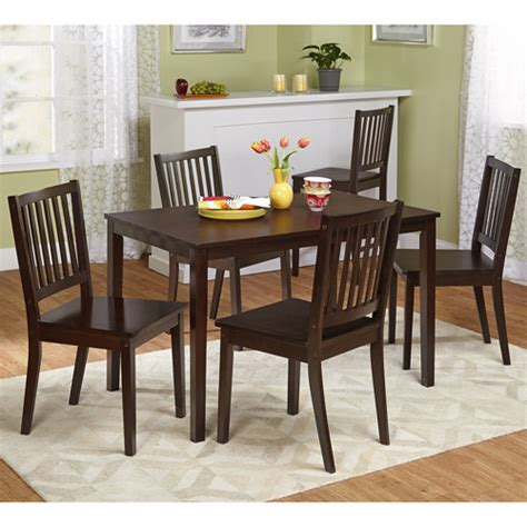 walmart dining room sets shaker 5 piece dining set espresso walmart com