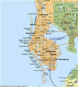 pinellas county map florida school info