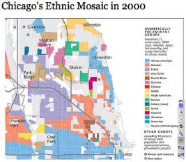 Racial Map Of Chicago by Chicago Map Race