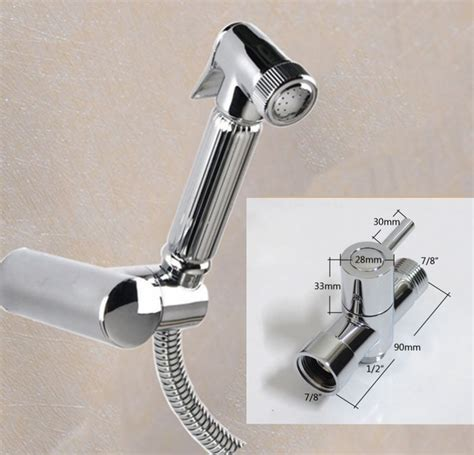 Bidet Adapter For Toilet Maideer Brass T Adapter Brass Handheld Sprayer Bidet