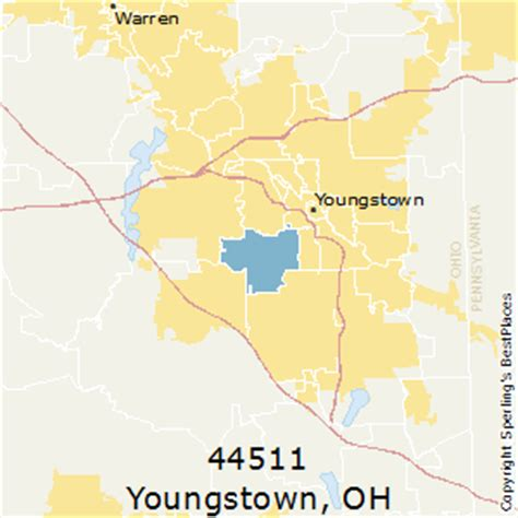 zip code map youngstown ohio best places to live in youngstown zip 44511 ohio