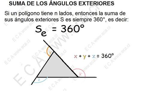 la suma de los 8483467968 matem 225 ticas ii la suma de los 193 ngulos exteriores es igual a 360