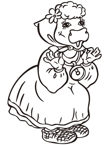 simple cow coloring page simple cow coloring coloring pages