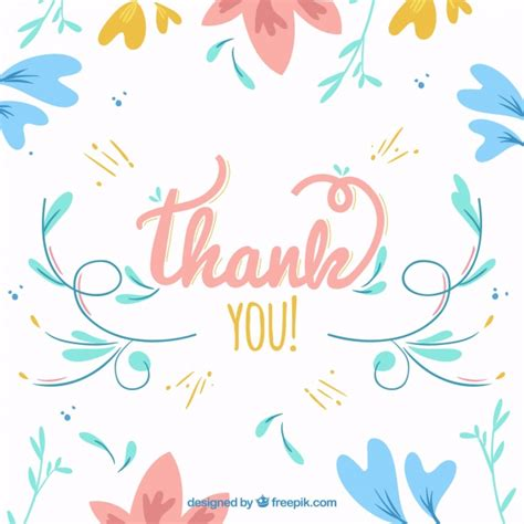background thank you vintage floral thank you background vector free download