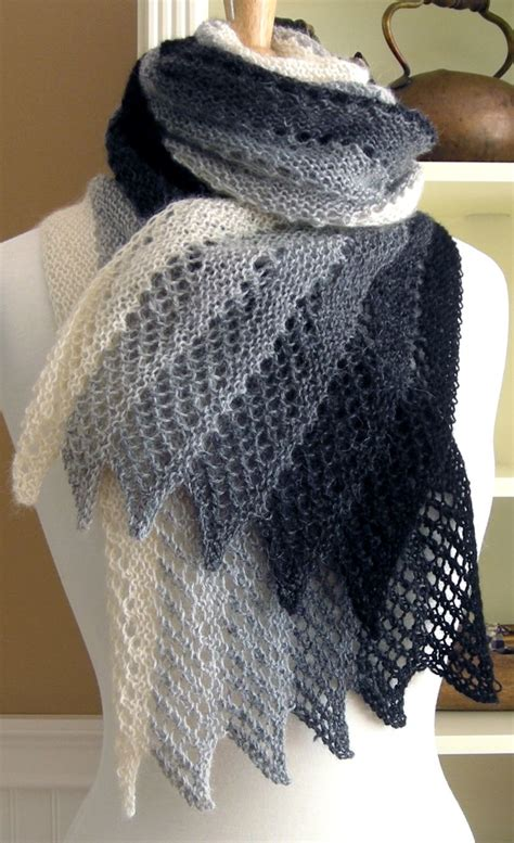 stricken schultertuch knitting pattern for mistral scarf with sticks