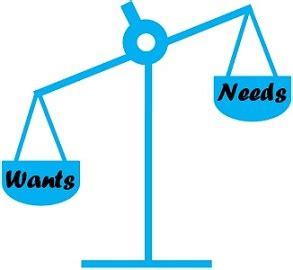 difference between needs and wants (with comparison chart