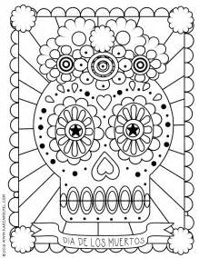 dia de los muertos skull coloring pages gallery for gt dia de los muertos skull coloring pages for kids