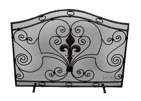 Handmade Wrought Iron - handmade wrought iron fireplace screen chairish