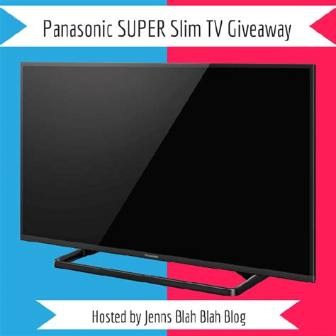 Tv Giveaway - panasonic super slim tv giveaway ends 9 1 momma lew