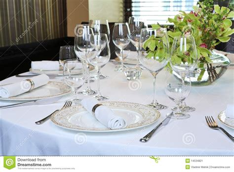 fancy place setting fancy table set for a dinner stock image image 14534821