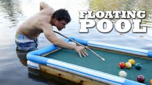 swim up bar floating pool table