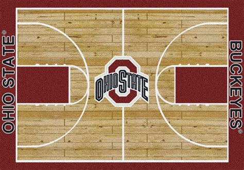 ohio state area rug 5x8 milliken ohio state buckeyes ncaa home court area rug approx 5 4 quot x7 8 quot ebay