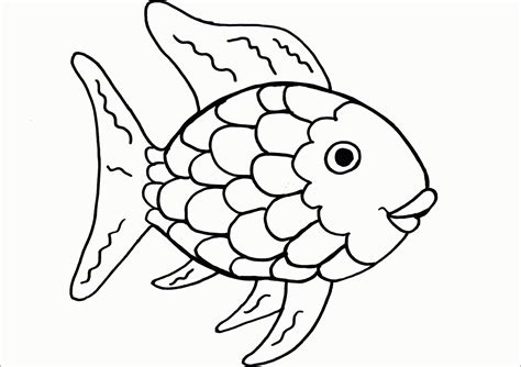 fish coloring page pdf rainbow fish template coloring home