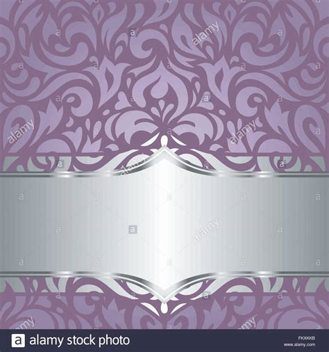 Wedding Background Design Purple by Floral Violet Vector Wedding Retro Vintage Decorative