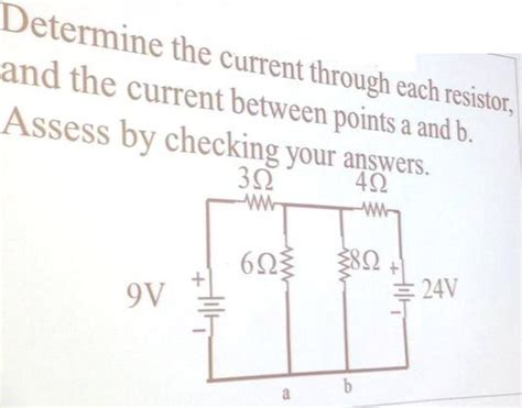through resistor book determine the current through each resistor and t chegg