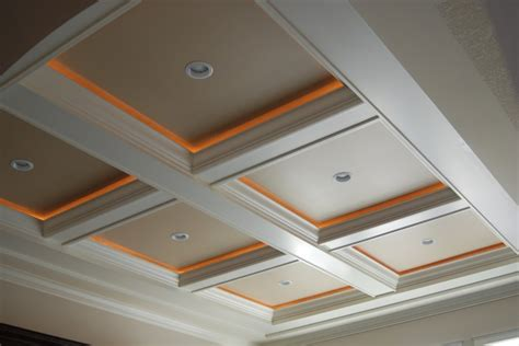 coffered ceiling lighting coffered ceiling accent lighting rope lights if we add