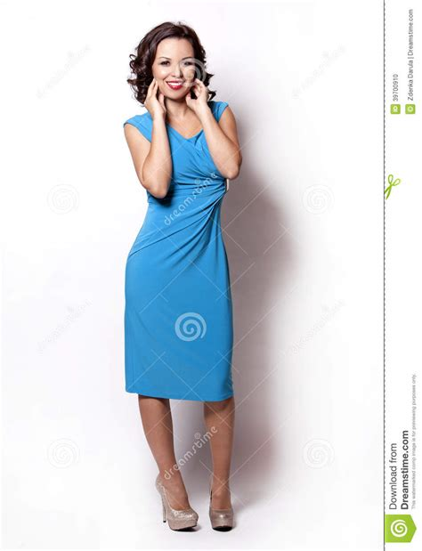 who is the woman wearing a blue dress in the viagra commercial woman in blue dress stock photo image 39700910