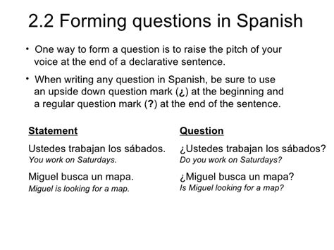 tutorial forming questions in spanish quizlet 2 2 forming questions