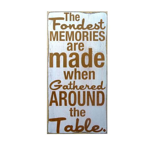 dining room accent the fondest memories home decor wall