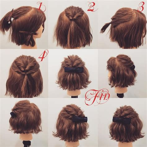 easy hairstles for court fryzurka hair and beauty pinterest hair style short