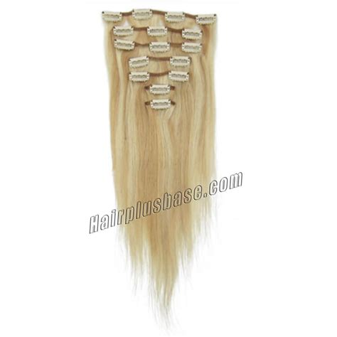18 inch clip in human hair extensions 15 inch 18 613 highlight clip in human hair