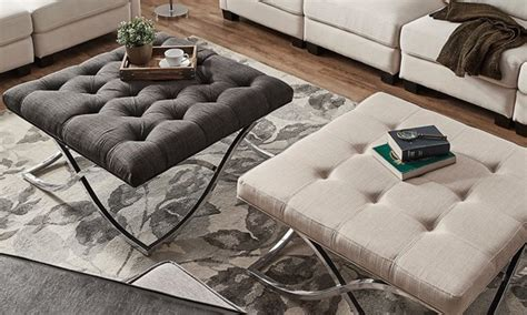 5 Tips On Using Ottomans As Coffee Tables Overstock Com
