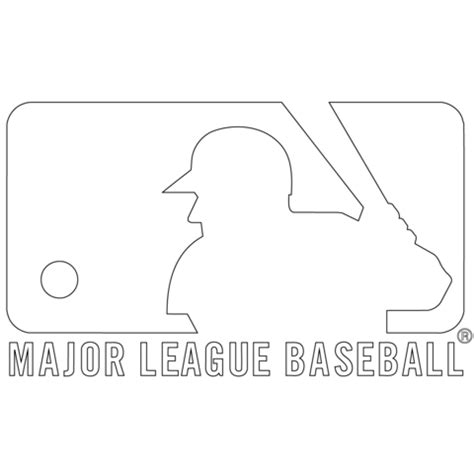 mlb logo coloring page free printable coloring pages