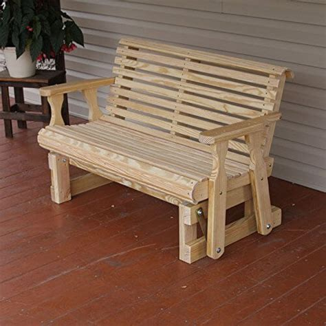 amish heavy duty 800 lb roll back porch glider nifty