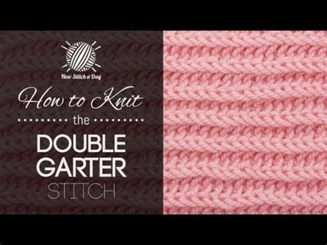 how to knit left handed how to knit the garter stitch left handed