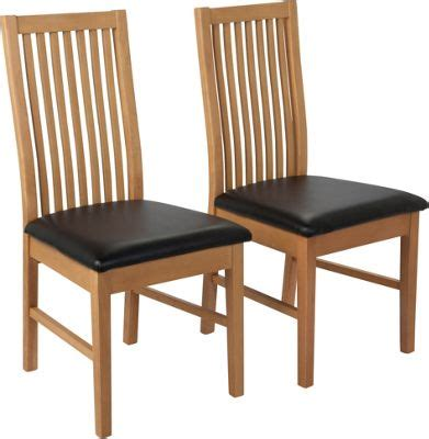 argos benches buy hygena luna pair of black dining chairs at argos co uk your online shop for