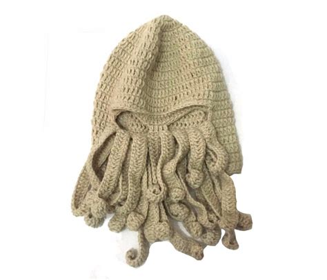 cthulhu knit mask bomhcs octopus cthulhu knit beanie hat cap wind
