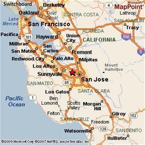 santa clara california map santa clara california