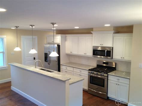 White Kitchen Cabinets With Crown Molding White Kitchen Cabinets Contemporary Kitchen Santa Barbara By Cliqstudios Cabinets