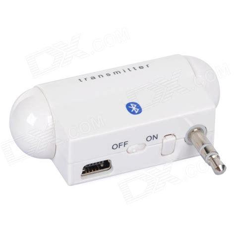 Bluetooth Wireless Companion Transmitter White 1 nolan 3 5mm bluetooth v2 1 wireless audio transmitter white free shipping dealextreme