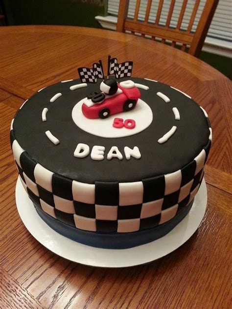 Race Car Race Track Checkeredag Cake Cakes Ive Made