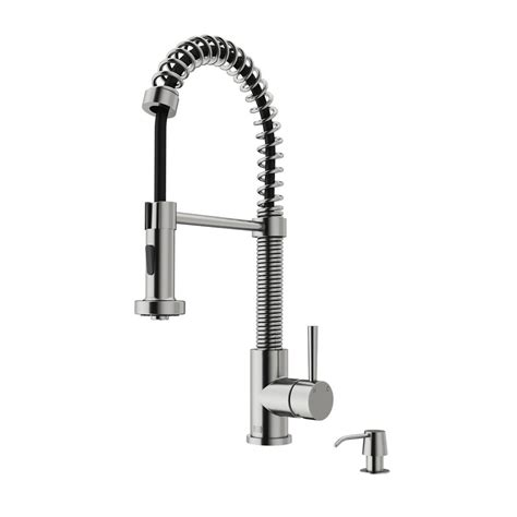 home depot kitchen faucets on sale vigo single handle pull out sprayer kitchen faucet with soap dispenser in stainless steel