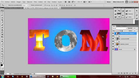 youtube tutorial de photoshop cs5 tutorial photoshop cs5 texto con imagenes de fondo youtube