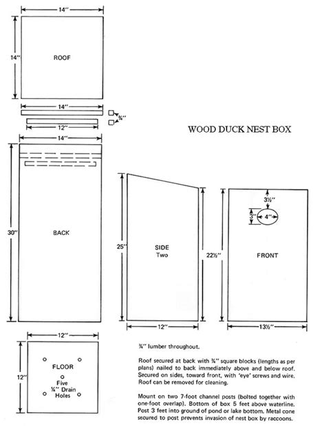 Wood Duck Birdhouse Plans House Plans Home Designs Wood Duck Houses Plans