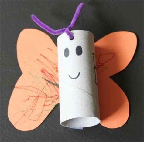 Butterfly Toilet Paper Roll Craft - the activity toilet paper roll alphabet crafts b