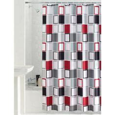 Red And Gray Shower Curtain Mainstays Aperture Fabric Shower Curtain Pretty Dark Gray