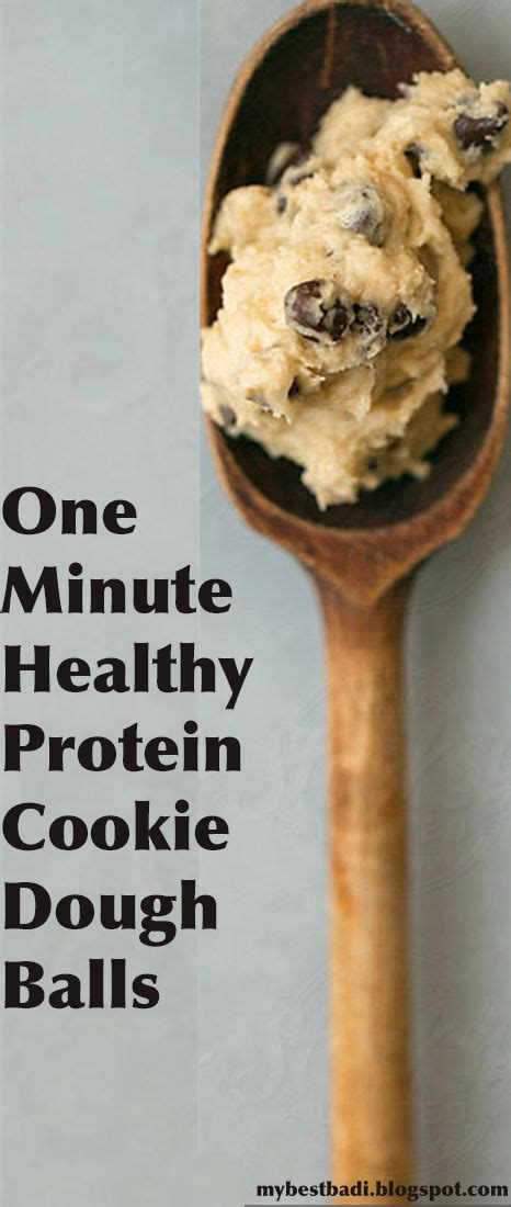 protein cookie dough one minute healthy protein cookie dough balls my best badi