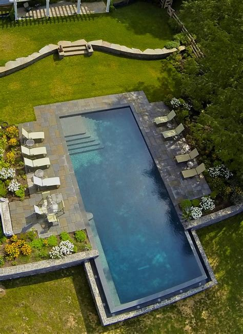 simple pool simple rectangle pool pool pinterest gardens pools