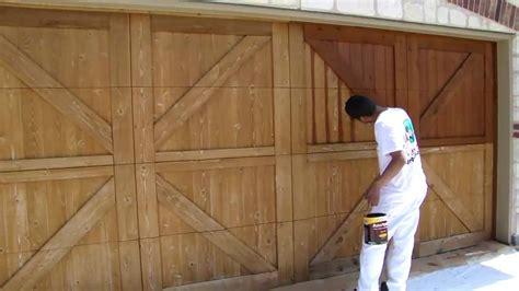 garage door staining dallas ft worth restoration
