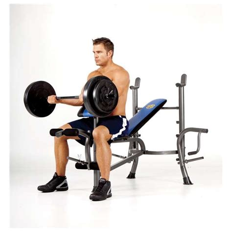marcy bench with 80 lb weight set marcy standard bench with 80 lb weight set with butterfly