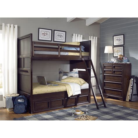 twin over twin bunk beds with storage lc kids benchmark twin over twin standard bunk bed with underbed storage drawer