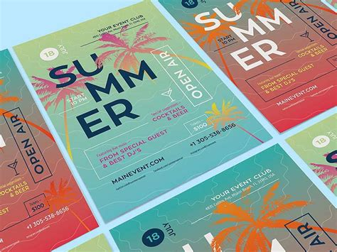 illustrator templates for posters summer poster template illustrator freebie designermill